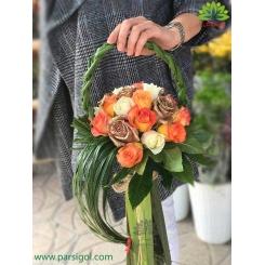 دسته گل رز هدیه عاشقانه ولنتاین کد DF03103