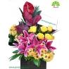 سبد گل تبریک روز مادر کد DF07602