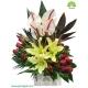 سبد گل روز مادر آنتوریوم سفید کد DF08002