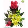 سبد گل عرض تبریک و شادباش لیلیوم کد DF08402