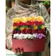 باکس گل هدیه تولد رنگین رز کد DF06905