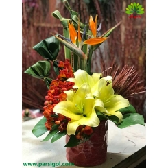 گلدان گل بهاری لیلیوم کد DF07205