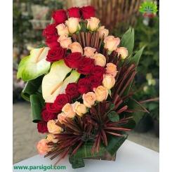 سبد گل نامزدی عروس کد DF09102