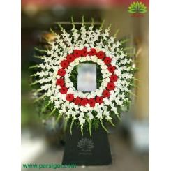 تاج گل یک طبقه مجلس ترحیم کد DF55701