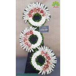 تاج گل ترحیم سلطنتی سه طبقه کد DF55801