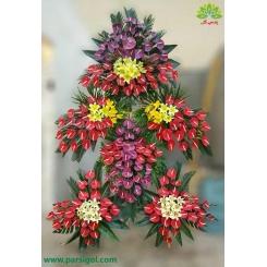 تاج گل تبریک سلطنتی 6 وجهی کد DF56001