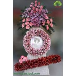 تاج گل تبریک عروسی سه طبقه کد DF56201