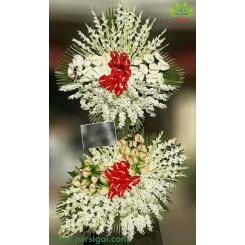 تاج گل ترحیم و ختم دو طبقه کد DF56401