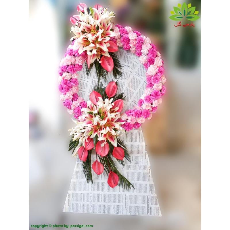 تاج گل نمایشگاه یک طبقه کد DF56601