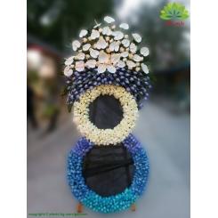 تاج گل تسلیت رز آبی کد DF56801