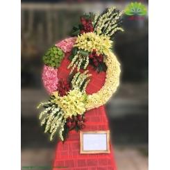 تاج گل تبریک مدرن کد DF57001
