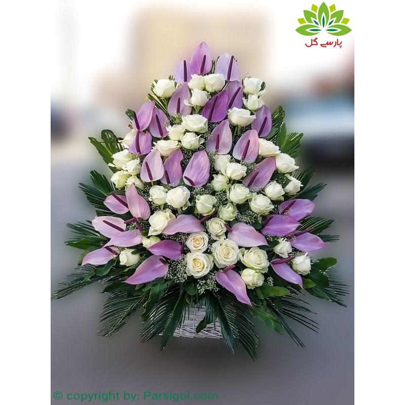 سبد گل تبریک تولد کد DF010002