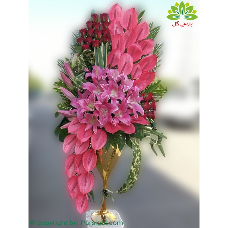 سبد گل نامزدی آنتوریوم کد DF10302
