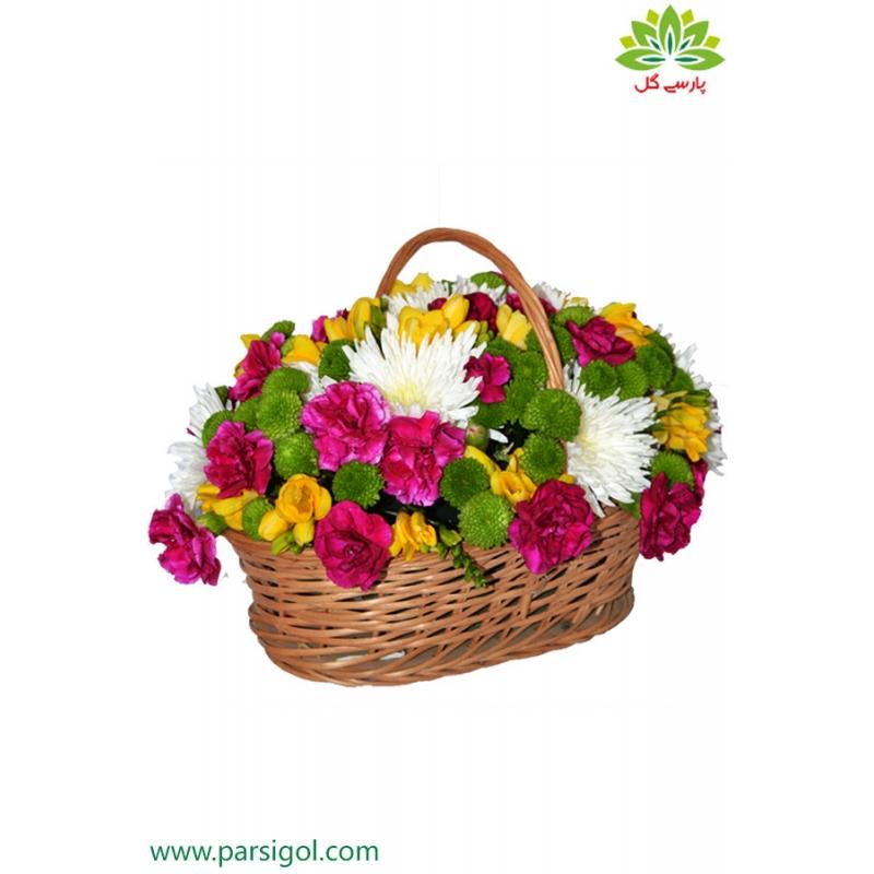 سبد گل بهاری روز مادر کد DF10702