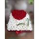 باکس گل رز و لیسیانتوس سفید کد DF08405