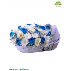 باکس گل تولد نوزاد پسر کد DF08705