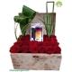 باکس گل هدیه رز قرمز کد DF09005