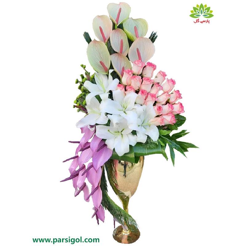 سبد گل خواستگاری لیلیوم سفید کد DF11202