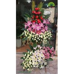 تاج گل دو طبقه بازگشایی کد DF00901