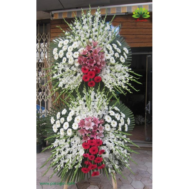 تاج گل ترحیم سه متری کد DF03401