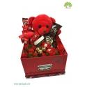باکس گل رز و هدیه ولنتاین کد DF01205