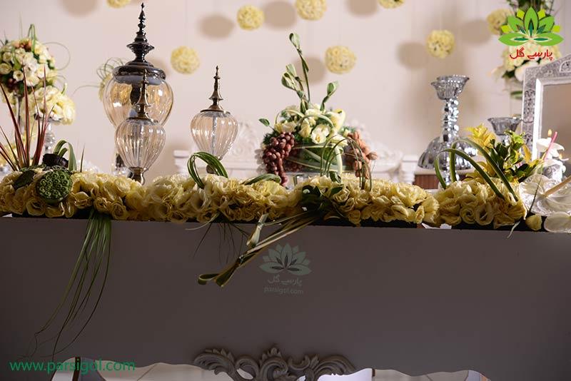 سفره عقد ایرانی با گل