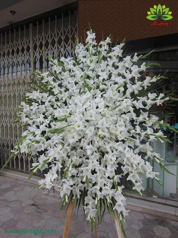 خرید اینترنتی تاج گل ترحیم اهدایی، قیمت تاج گل تسلیت اهدایی همراه با ارسال رایگان تاج گل