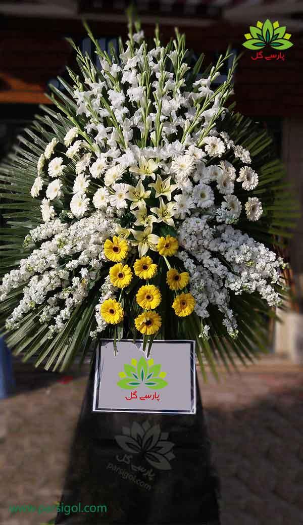 سفارش اینترنتی تاج گل تسلیت اهدایی و قیمت انواع تاج گل اهدایی تسلیت و ختم