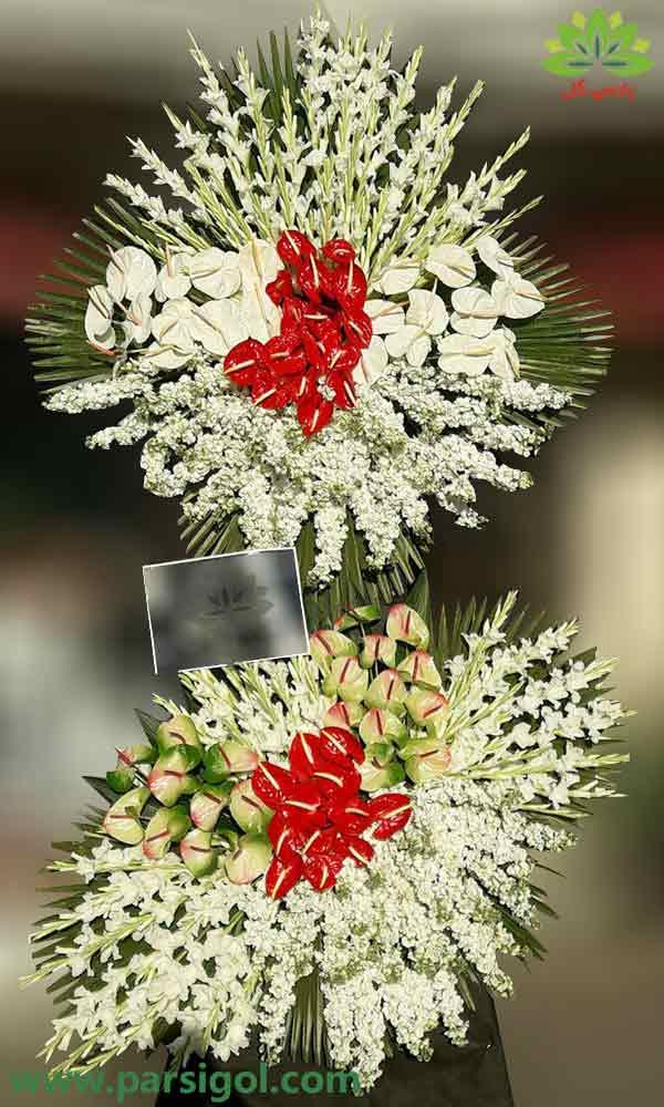 ارسال رایگان تاج گل به مسجد، تحویل فوری تاج گل ترحیم در محل